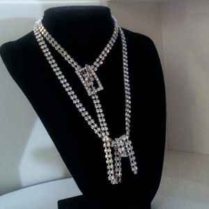 "Accessories - 44"" Rhinestone belt or necklace NWT"